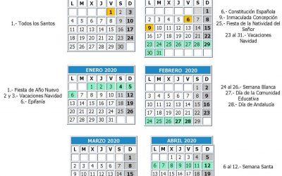 Calendario provisional curso 19/20